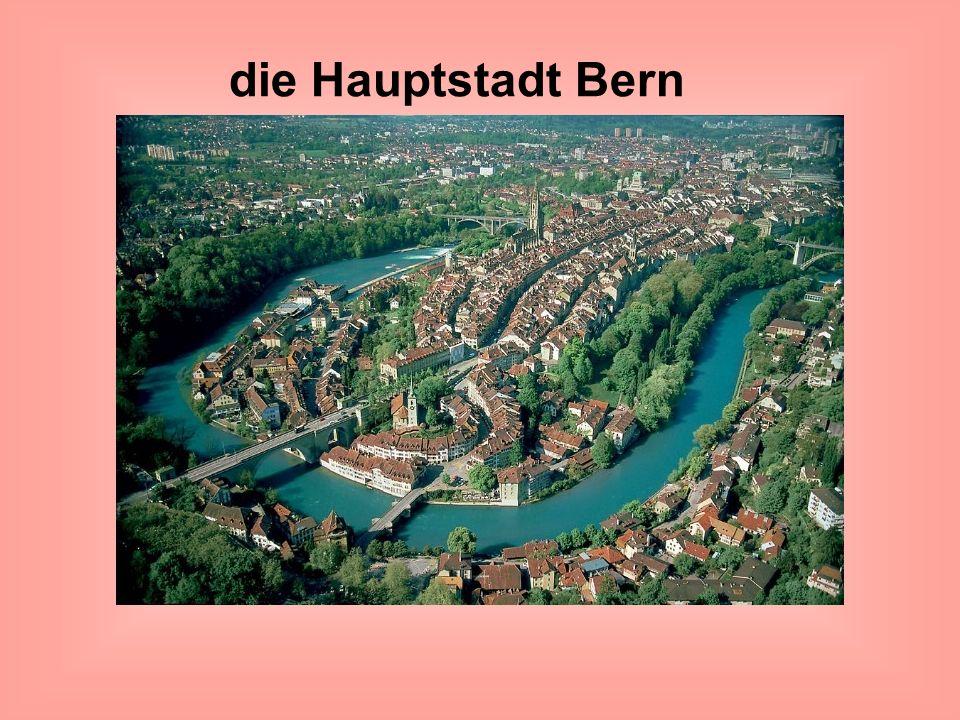 die Hauptstadt Bern ( Stolica Szwajcarii- Bern) Zdjęcie lotnicze miasta