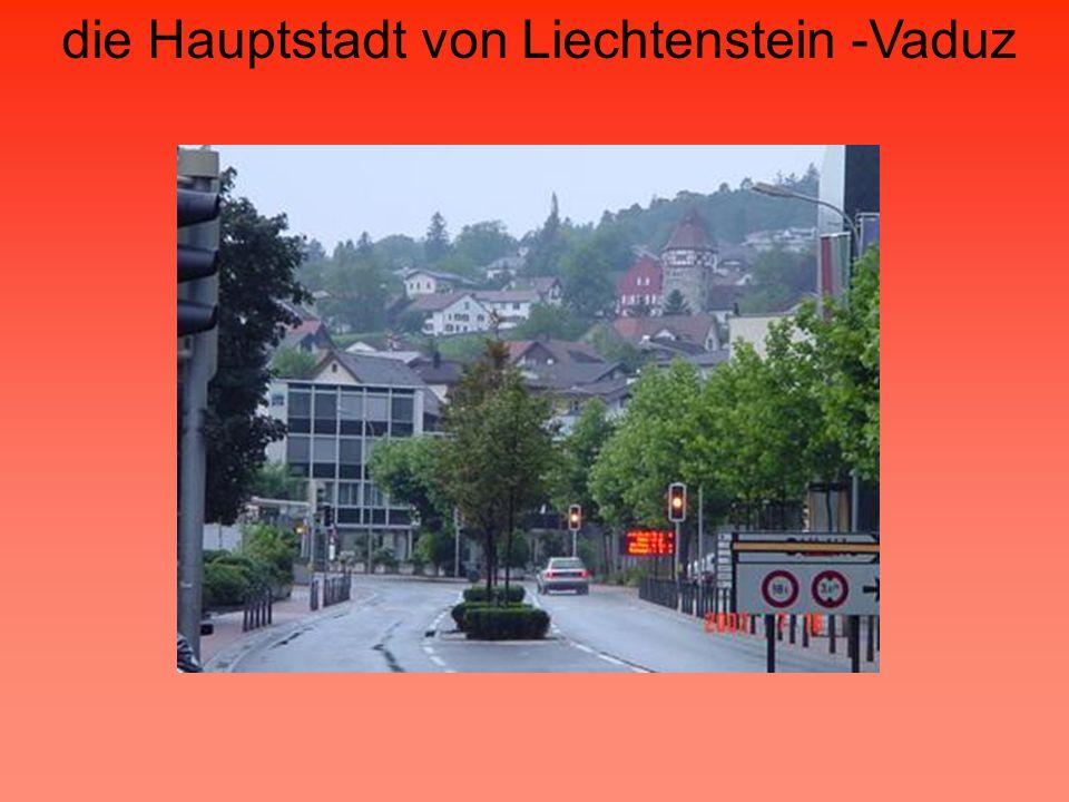 die Hauptstadt von Liechtenstein -Vaduz Centrum Vaduz