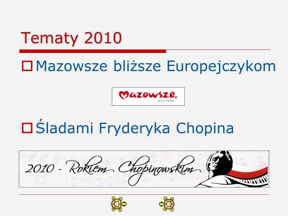 Przedmiot konkursu Przedmiotem konkursu jest samodzielne wykonanie w środowisku Logomocja - polska edycja Imagine pokazu lub gry dotyczącej jednego z wymienionych wyżej tematów.