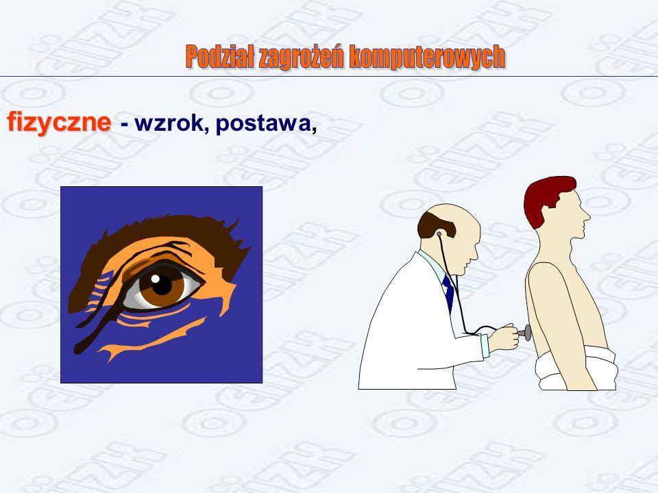 fizyczne fizyczne - wzrok, postawa,