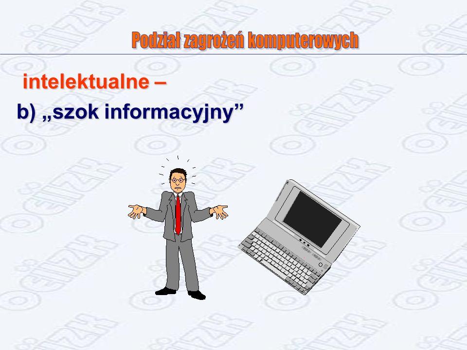 intelektualne – b) szok informacyjny