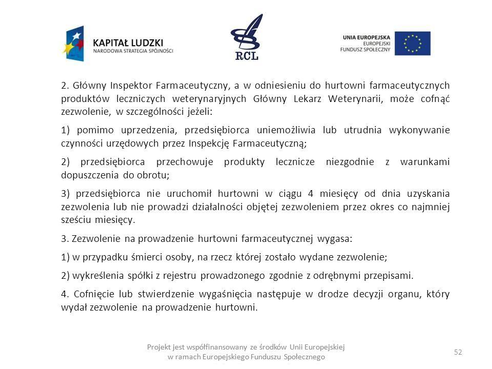 52 Projekt jest współfinansowany ze środków Unii Europejskiej w ramach Europejskiego Funduszu Społecznego 2.