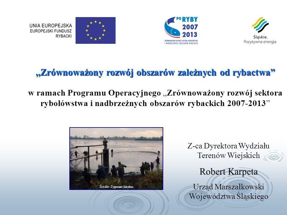 realizacja celów polskiej polityki rybackiej, poprzez: racjonalną gospodarkę żywymi zasobami wód i poprawę efektywności sektora rybackiego, podniesienie konkurencyjności polskiego rybołówstwa morskiego, rybactwa śródlądowego i przetwórstwa ryb, poprawę jakości życia na obszarach zależnych od rybactwa.