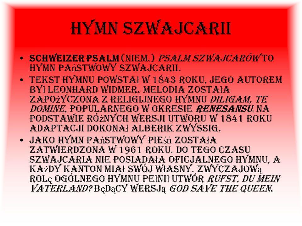 Szwajcaria, Konfederacja Szwajcarska (Confoederatio Helvetica, Schweiz, Schweizerische Eidgenossenschaft) – pa ń stwo federacyjne w Europie Zachodniej