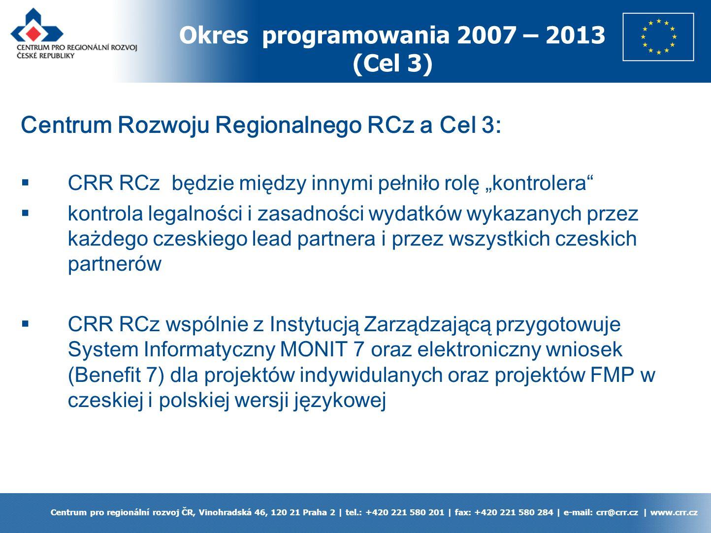 Vinohradská 46, 120 21 Praha 2 | tel.: +420 221 580 201 | fax: +420 221 580 284 | e-mail: crr@crr.cz | www.crr.cz Dziękuję za uwagę Mgr.