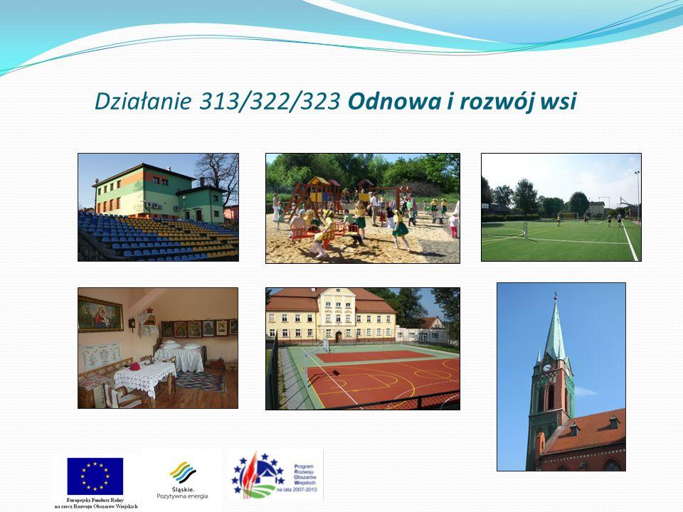 Działanie 313/322/323 Odnowa i rozwój wsi