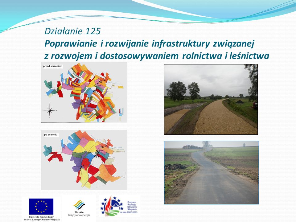 Stan wdrażania działania Poprawianie i rozwijanie infrastruktury związanej z rozwojem i dostosowywaniem rolnictwa i leśnictwa Cel działania: 1.