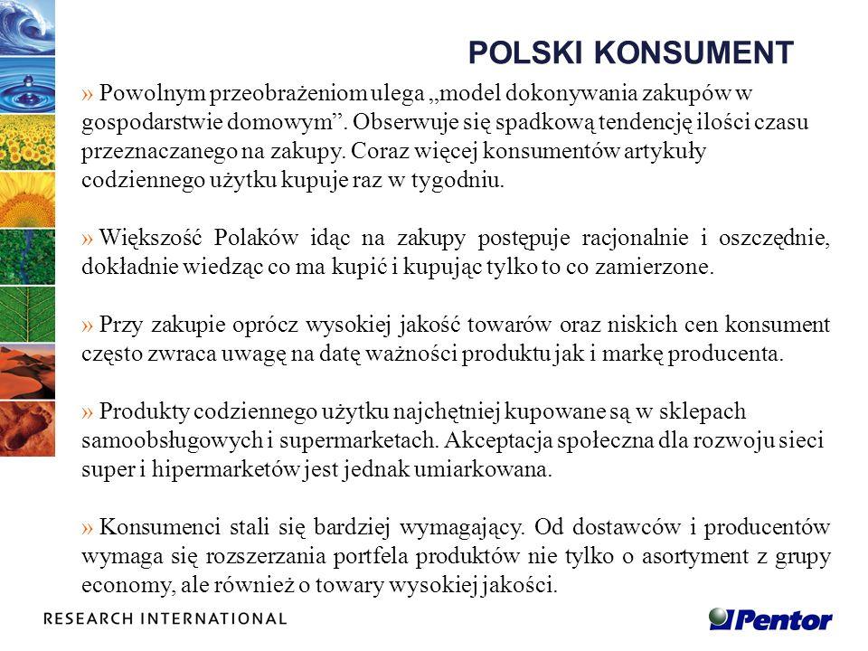 POLSKI KONSUMENT » Powolnym przeobrażeniom ulega model dokonywania zakupów w gospodarstwie domowym. Obserwuje się spadkową tendencję ilości czasu prze