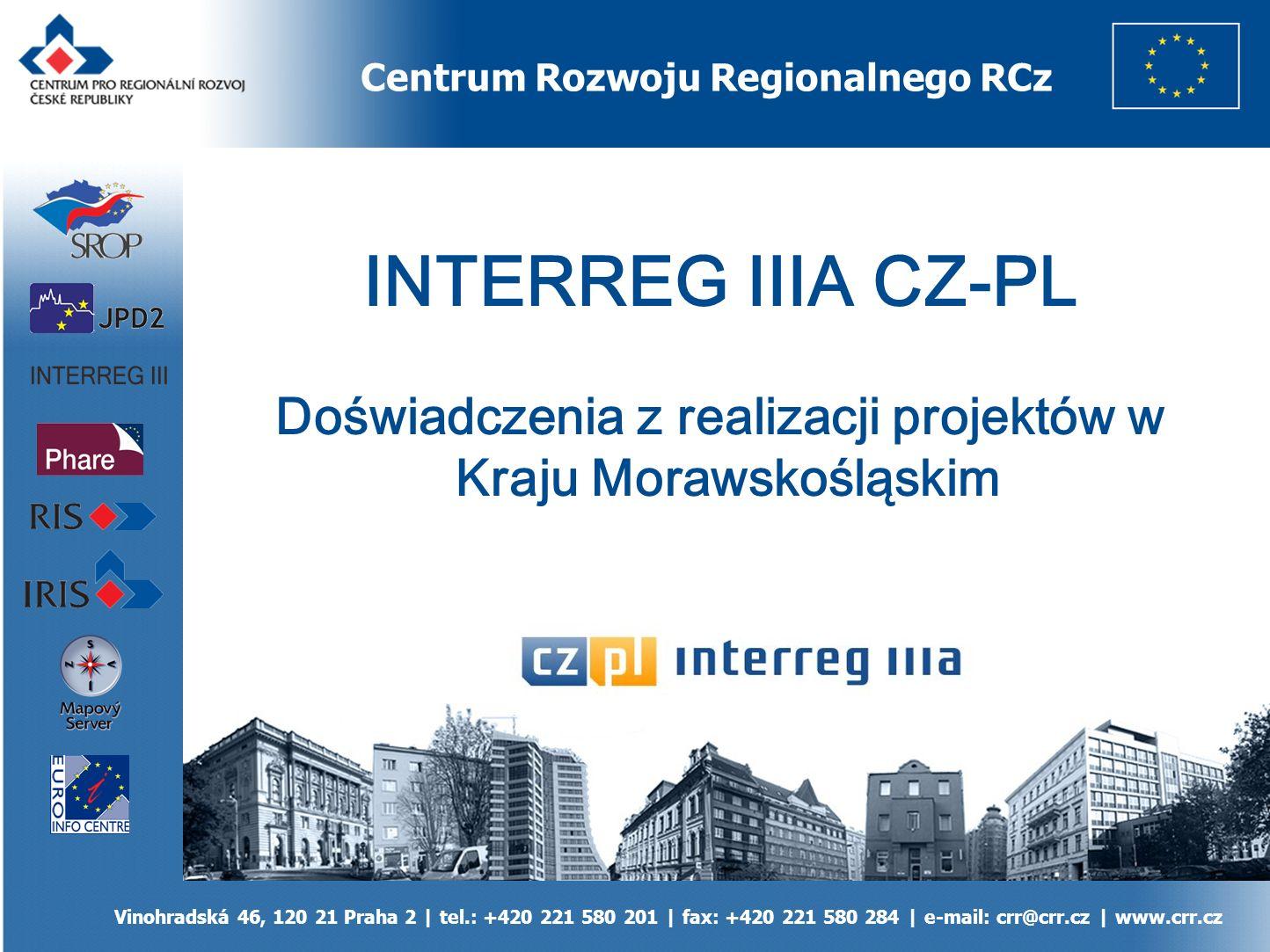 Kontakt Centrum pro regionální rozvoj ČR, Vinohradská 46, 120 21 Praha 2   tel.: +420 221 580 201   fax: +420 221 580 284   e-mail: crr@crr.cz   www.crr.cz DZIĘKUJĘ ZA UWAGĘ Ing.
