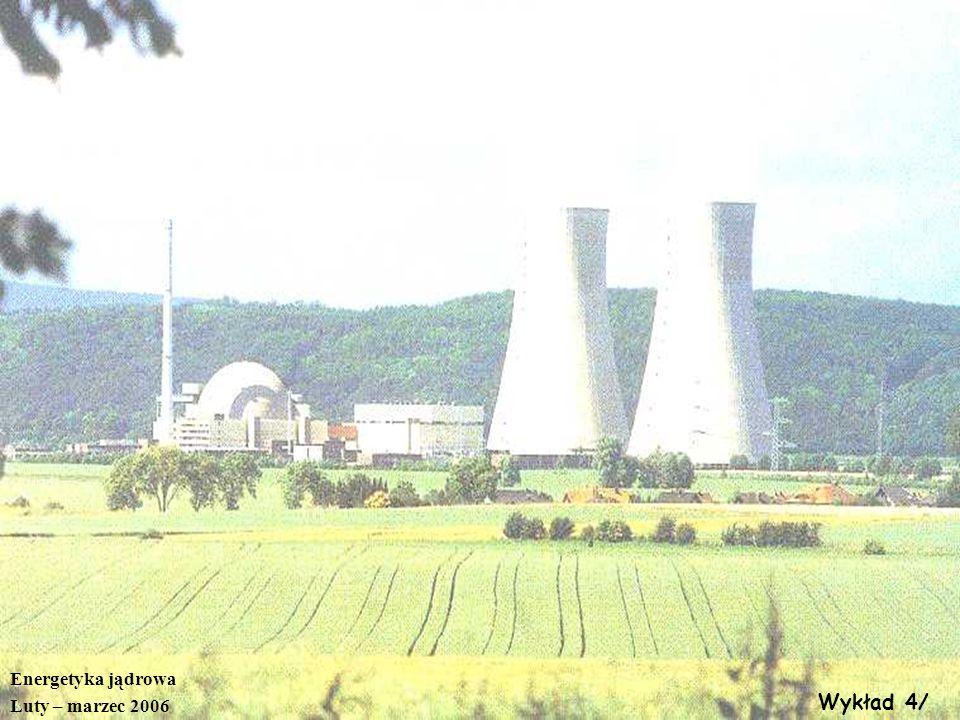 Energetyka jądrowa Luty – marzec 2006 Wykład 4/
