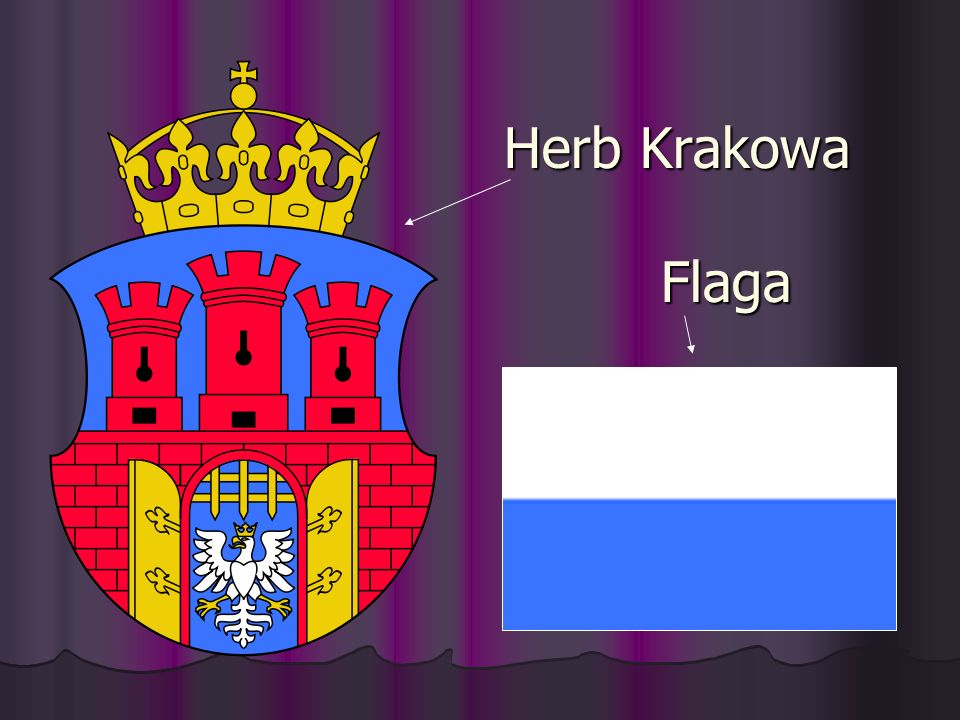 Herb Krakowa Flaga