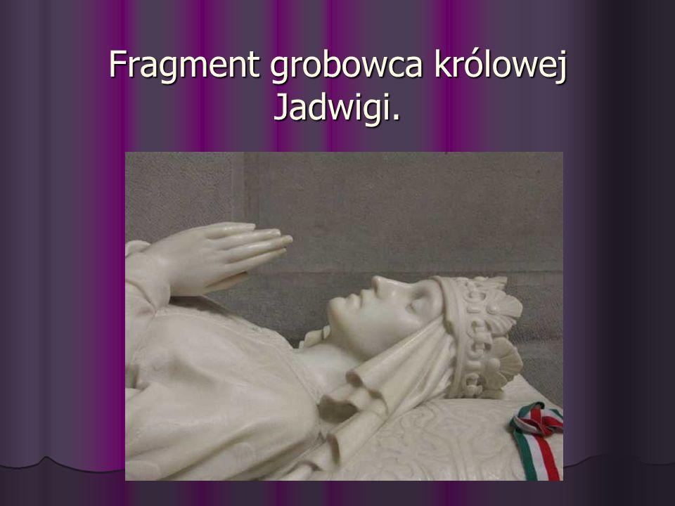 Fragment grobowca królowej Jadwigi. Fragment grobowca królowej Jadwigi.