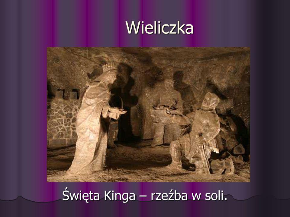 Wieliczka Święta Kinga – rzeźba w soli.