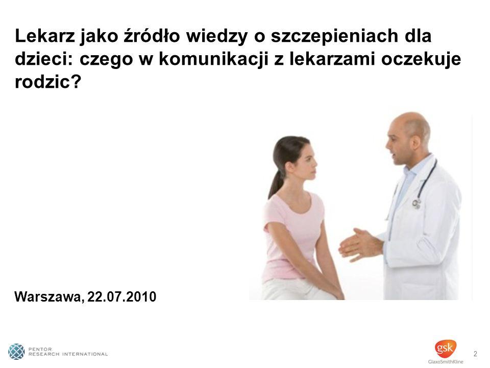 2 Lekarz jako źródło wiedzy o szczepieniach dla dzieci: czego w komunikacji z lekarzami oczekuje rodzic.