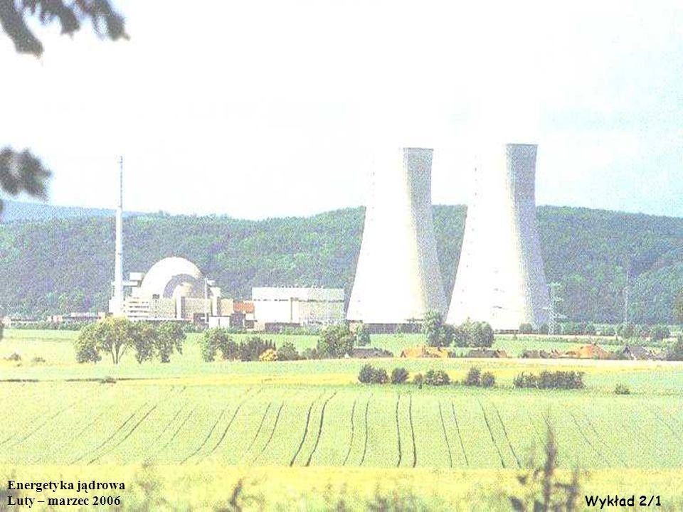 Energetyka jądrowa Luty – marzec 2006 Wykład 2/1