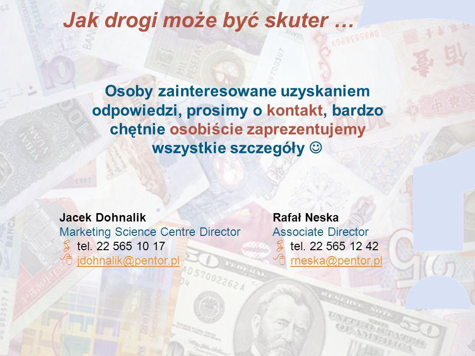 14 Osoby zainteresowane uzyskaniem odpowiedzi, prosimy o kontakt, bardzo chętnie osobiście zaprezentujemy wszystkie szczegóły Jacek Dohnalik Marketing Science Centre Director tel.