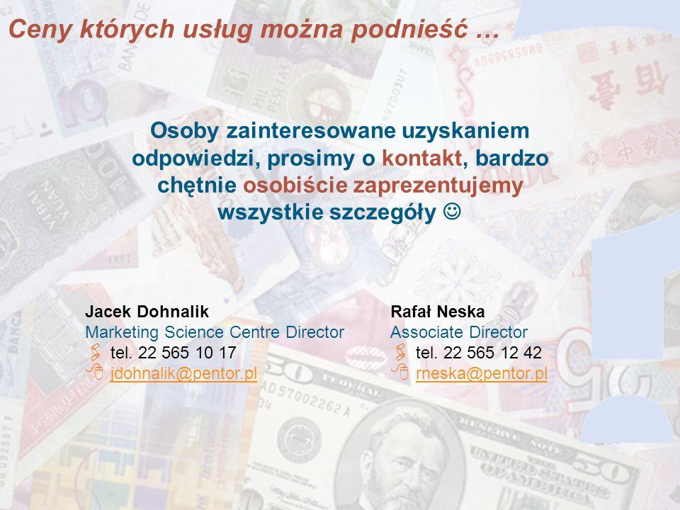 18 Osoby zainteresowane uzyskaniem odpowiedzi, prosimy o kontakt, bardzo chętnie osobiście zaprezentujemy wszystkie szczegóły Jacek Dohnalik Marketing Science Centre Director tel.