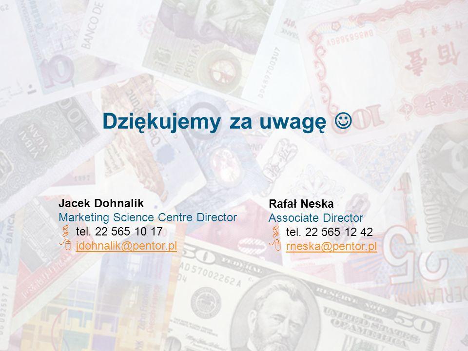 26 Jacek Dohnalik Marketing Science Centre Director tel.