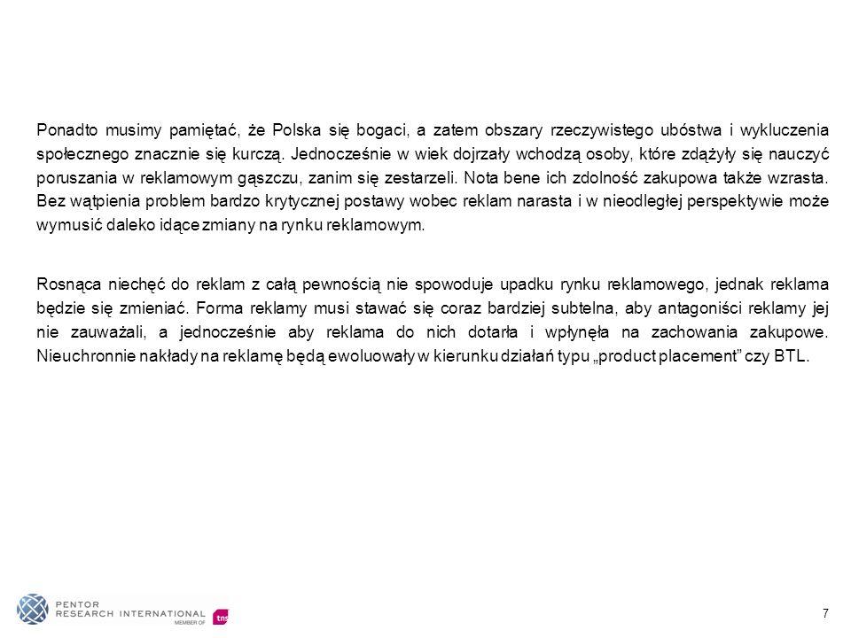 7 Ponadto musimy pamiętać, że Polska się bogaci, a zatem obszary rzeczywistego ubóstwa i wykluczenia społecznego znacznie się kurczą. Jednocześnie w w