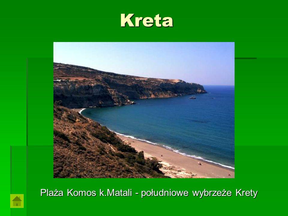 Kreta Plaża Komos k.Matali - południowe wybrzeże Krety