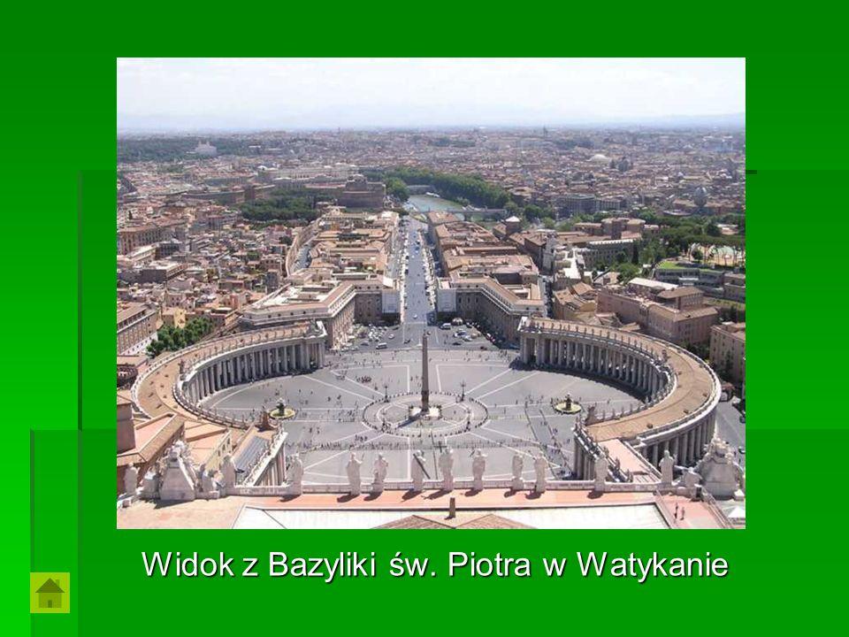 Widok z Bazyliki św. Piotra w Watykanie