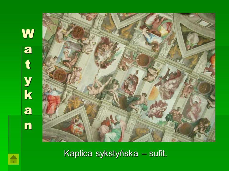 WatykanWatykanWatykanWatykan Kaplica sykstyńska – sufit.