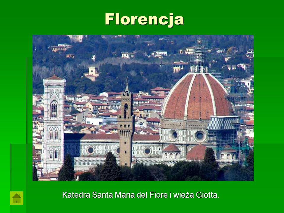 Florencja Katedra Santa Maria del Fiore i wieża Giotta.