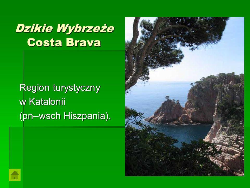 Dzikie Wybrzeże Costa Brava Region turystyczny w Katalonii (pn–wsch Hiszpania).
