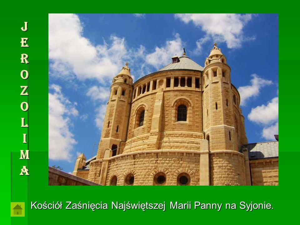 JerozolimaJerozolimaJerozolimaJerozolima Kościół Zaśnięcia Najświętszej Marii Panny na Syjonie.