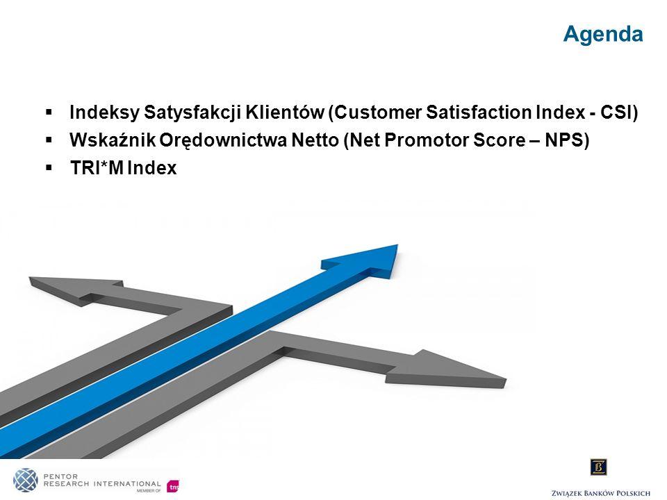 Agenda Indeksy Satysfakcji Klientów (Customer Satisfaction Index - CSI) Wskaźnik Orędownictwa Netto (Net Promotor Score – NPS) TRI*M Index