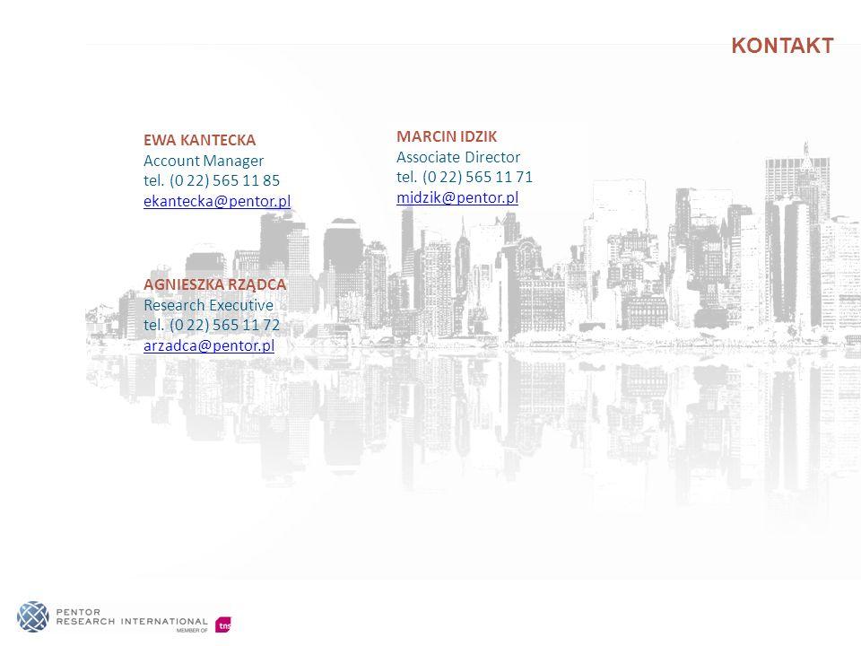 KONTAKT AGNIESZKA RZĄDCA Research Executive tel. (0 22) 565 11 72 arzadca@pentor.pl EWA KANTECKA Account Manager tel. (0 22) 565 11 85 ekantecka@pento