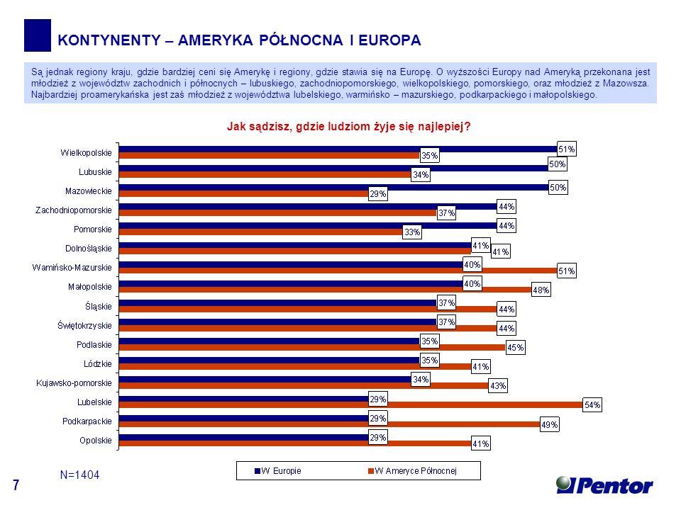 7 KONTYNENTY – AMERYKA PÓŁNOCNA I EUROPA Jak sądzisz, gdzie ludziom żyje się najlepiej.