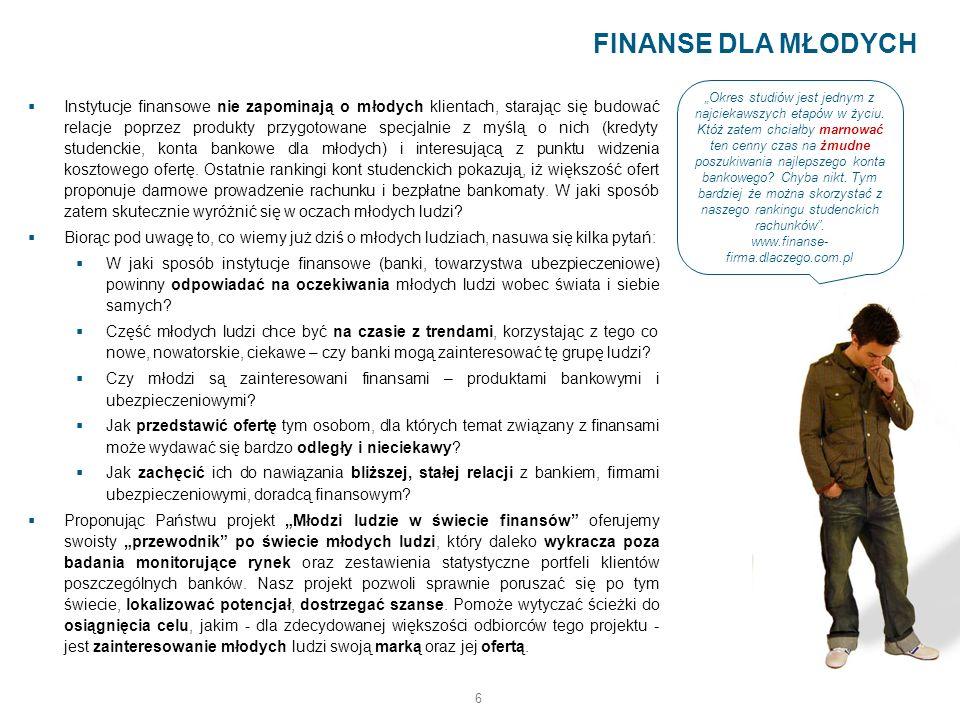 6 Instytucje finansowe nie zapominają o młodych klientach, starając się budować relacje poprzez produkty przygotowane specjalnie z myślą o nich (kredy