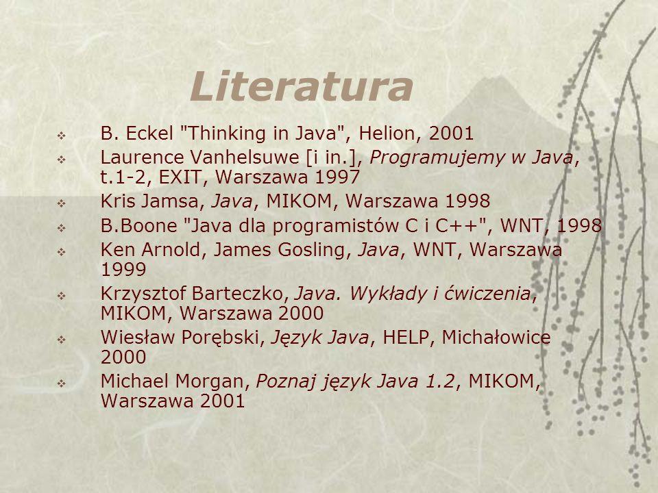 Literatura B. Eckel