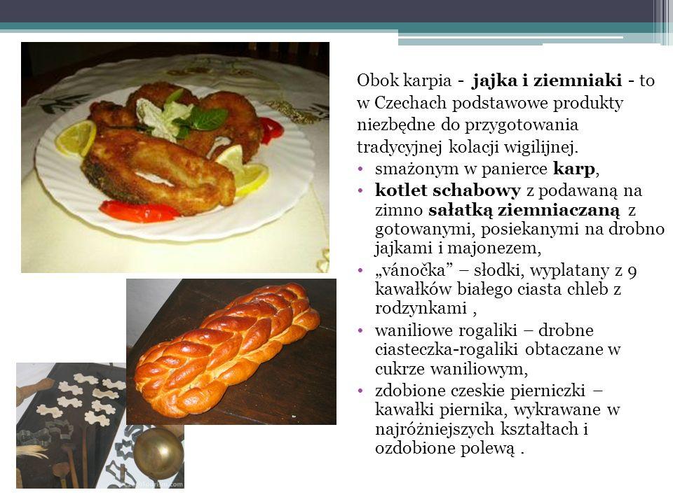 Obok karpia - jajka i ziemniaki - to w Czechach podstawowe produkty niezbędne do przygotowania tradycyjnej kolacji wigilijnej. smażonym w panierce kar