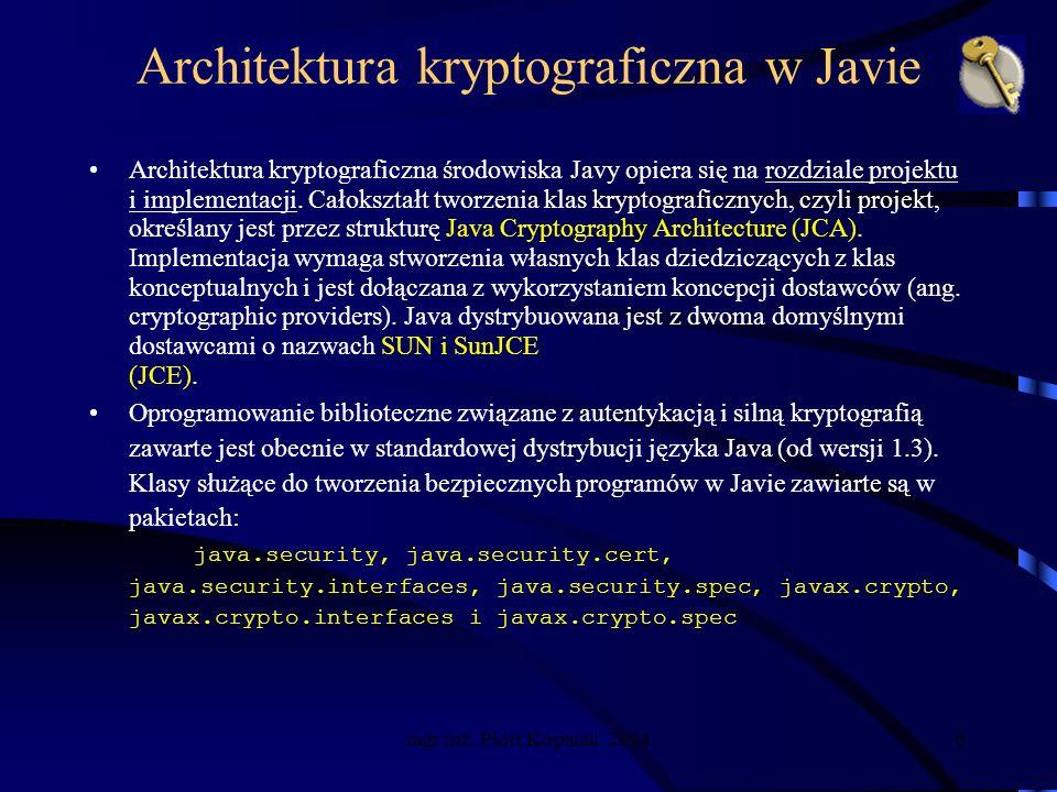 mgr inż.Piotr Kopniak 20047 Dodanie dostawcy kryptograficznego 1.