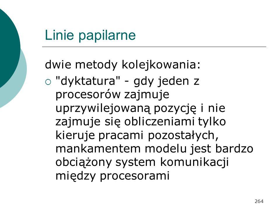 264 Linie papilarne dwie metody kolejkowania:
