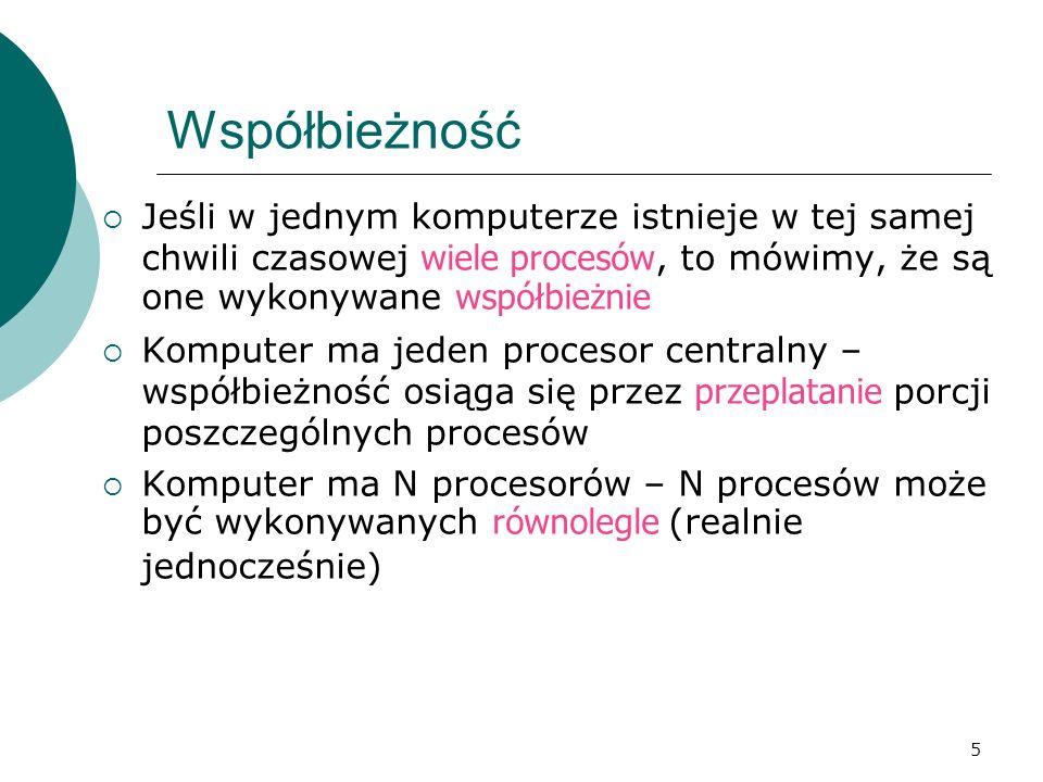 126 CSP język do zapisywania procesów współbieżnych realizujący spotkania symetryczne oprócz zwykłej instrukcji przypisania jest możliwe przypisanie jednoczesne, wykonanie takiej instrukcji polega na równoległym obliczeniu wartości wyrażeń podanych z prawej strony, a następnie jednoczesnym przypisaniu ich odpowiadającym zmiennym z lewej strony instrukcji
