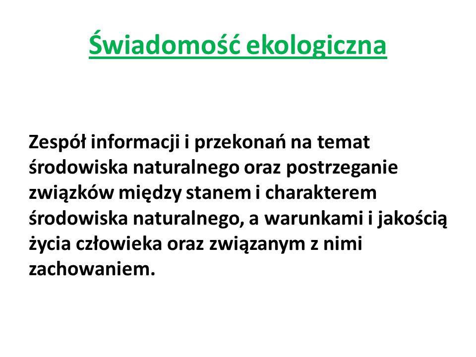 Problematyka badań 1) W jaki sposób badani odnoszą się do ogólnych kwestii związanych z ekologią.