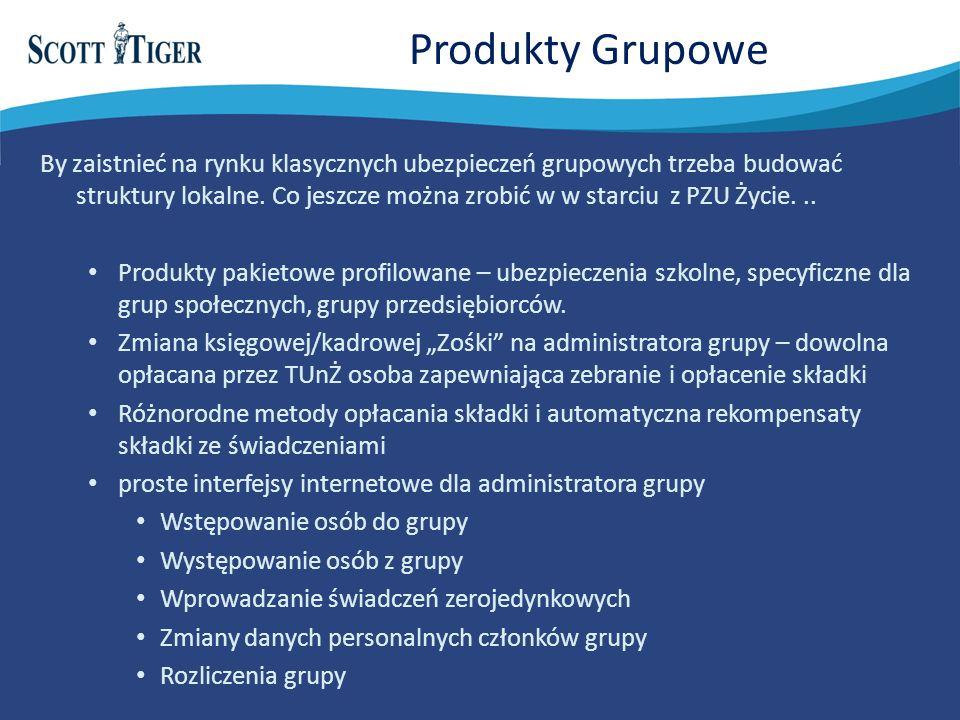 Produkty Grupowe By zaistnieć na rynku klasycznych ubezpieczeń grupowych trzeba budować struktury lokalne.
