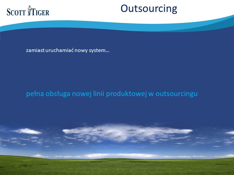 Outsourcing pełna obsługa nowej linii produktowej w outsourcingu zamiast uruchamiać nowy system…