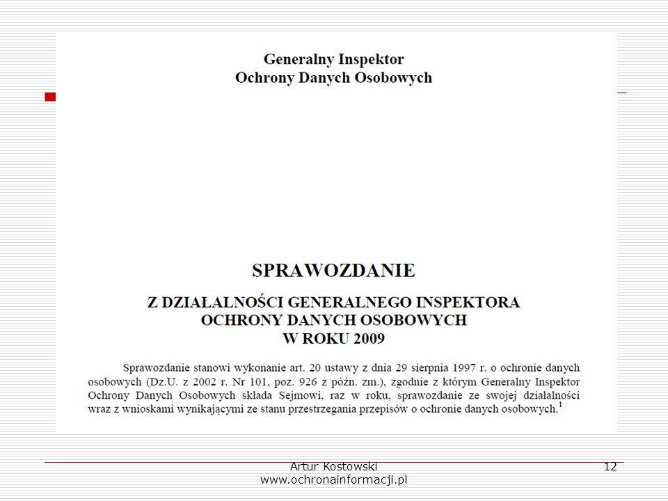 Artur Kostowski www.ochronainformacji.pl 12