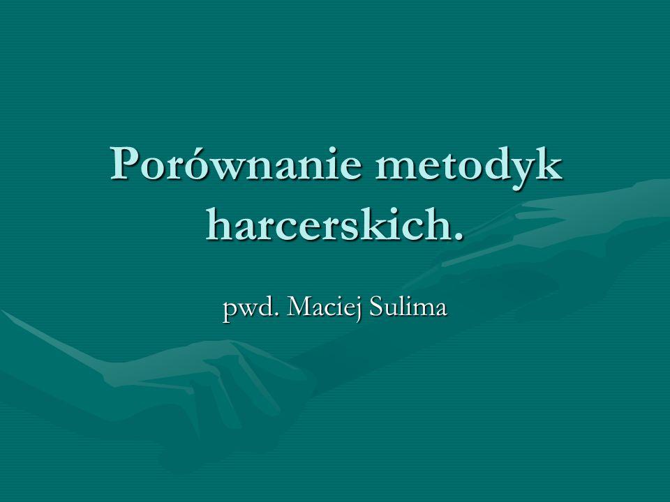 Porównanie metodyk harcerskich. pwd. Maciej Sulima
