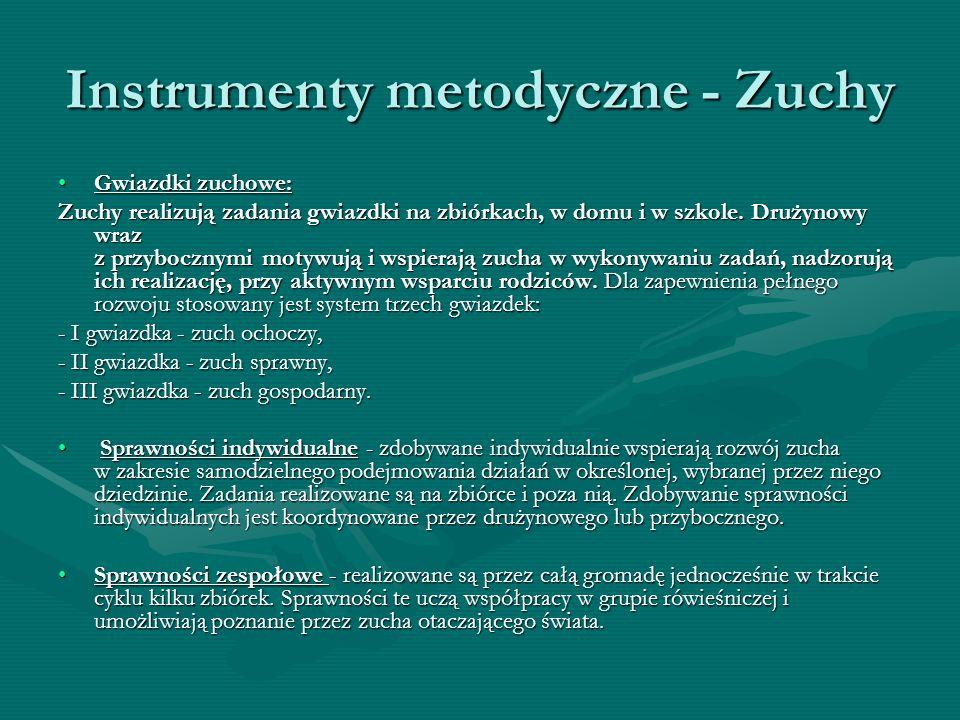 Instrumenty metodyczne - Zuchy Gwiazdki zuchowe:Gwiazdki zuchowe: Zuchy realizują zadania gwiazdki na zbiórkach, w domu i w szkole. Drużynowy wraz z p