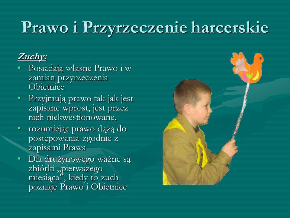 Prawo i Przyrzeczenie harcerskie Prawo Zucha 1.Zuch kocha Boga i Polskę.