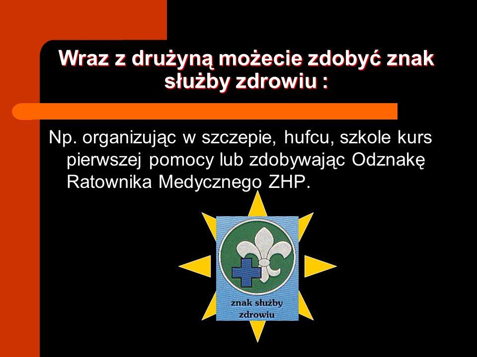 LINKI: STRONA INSPEKTORATU DRUŻYN RATOWNICZYCH I POŻARNICZYCH: http://specjalnosci.zhp.pl/index.php?do=standard&navi=0029,0019 STRONA HARCERSKIEJ SZKOŁY RATOWNICZEJ: http://hsr.pl/www/ STRONA 14 PDH CZARNE STOPY http://www.14pdhczarnestopy.freehost.pl/glowna.htm STRONA 8 PDH WIDMO http://www.widmo.chrzanow.zhp.pl/ PCK http://www.pck.org.pl/ KOMENDA GŁÓWNA PAŃSTWOWEJ STRAŻY POŻARNEJ http://www.kgpsp.gov.pl/ OGÓLNOPOLSKI SERWIS RATOWNICTWA I PIERWSZEJ POMOCY http://www.ariadna.pl/