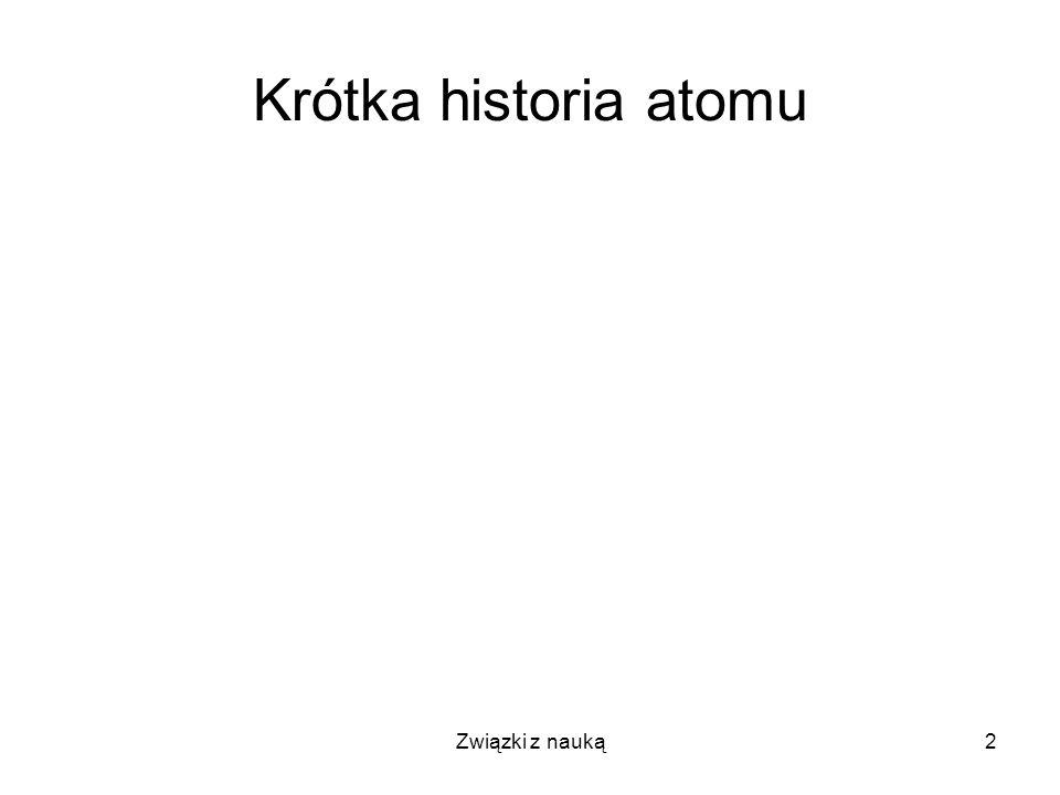 Związki z nauką3 Krótka historia atomu I Argument Gorgiasza (483-374 pne): Gdzie Byt istnieje.