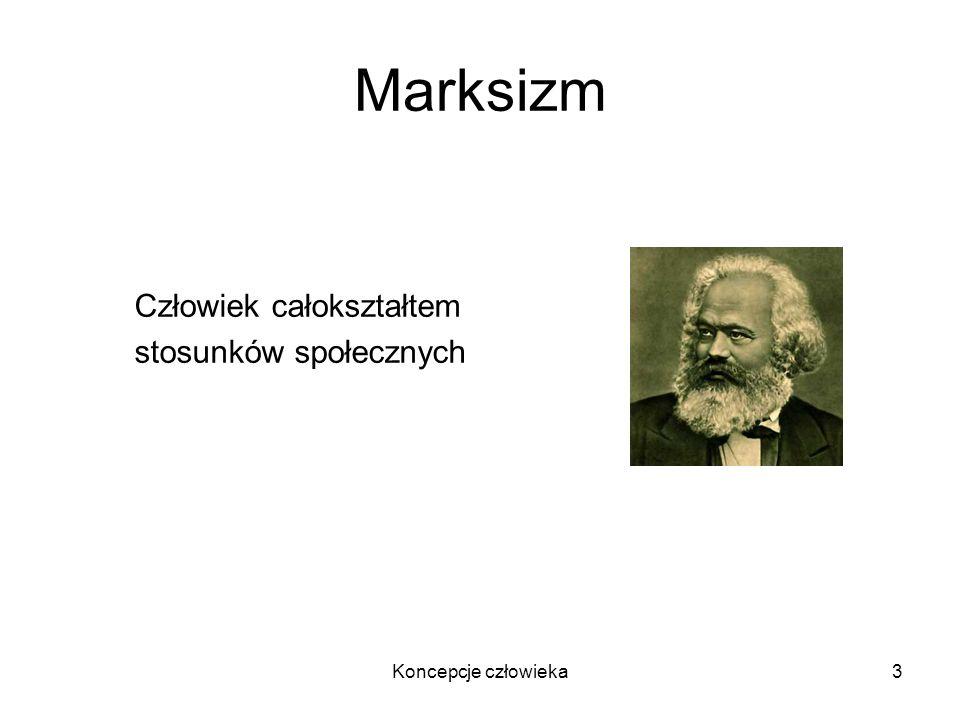 Koncepcje człowieka3 Marksizm Człowiek całokształtem stosunków społecznych