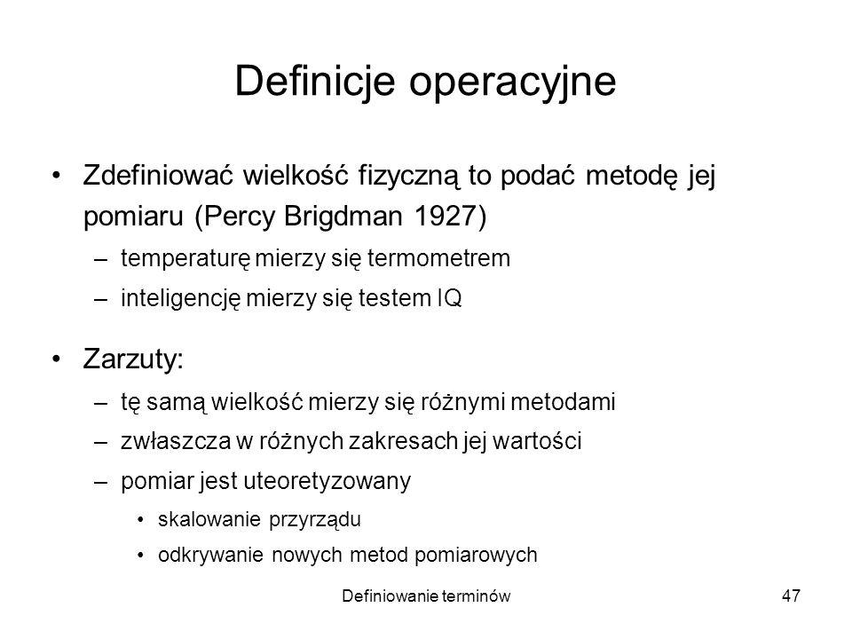 Definiowanie terminów48 Przykład: waga skręceń Henry Cavendish (1798) Źródła: Wikipedia, Z.