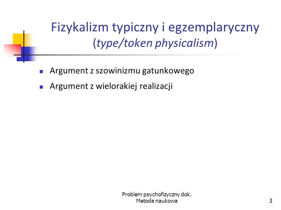 Problem psychofizyczny dok.Metoda naukowa24 Obrazkowa teoria znaczenia 6.54.